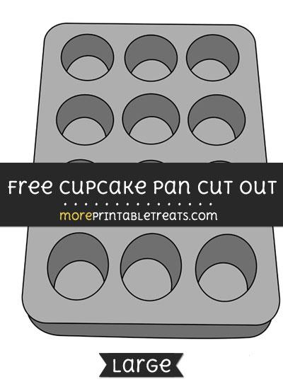 Free Cupcake Pan Cut Out - Large size printable
