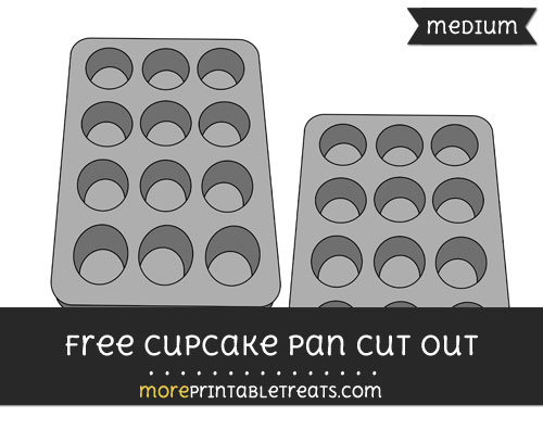 Free Cupcake Pan Cut Out - Medium Size Printable