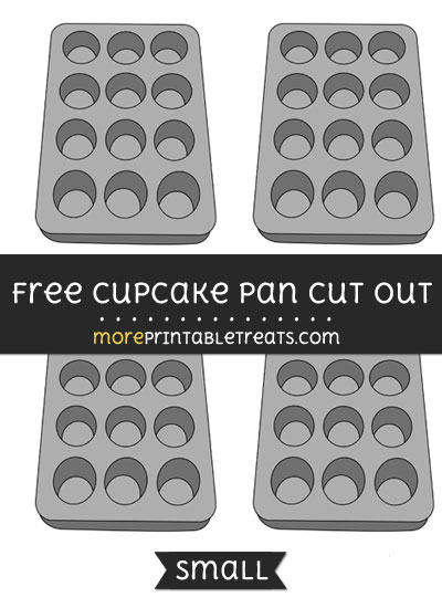 Free Cupcake Pan Cut Out - Small Size Printable