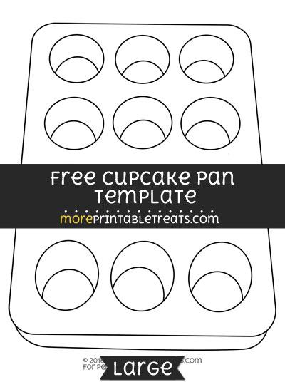 Free Cupcake Pan Template - Large