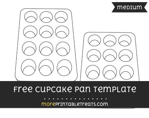Free Cupcake Pan Template - Medium