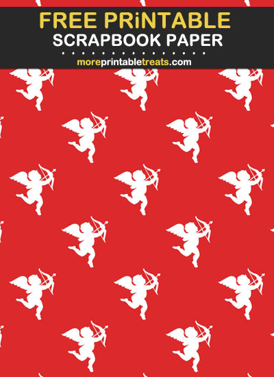 Free Printable Cupid Scrapbook Paper