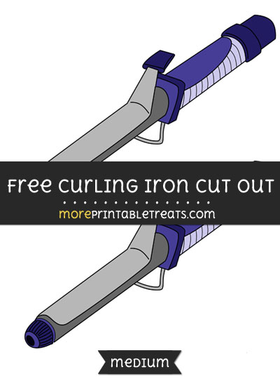 Free Curling Iron Cut Out - Medium Size Printable