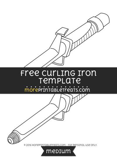 Free Curling Iron Template - Medium