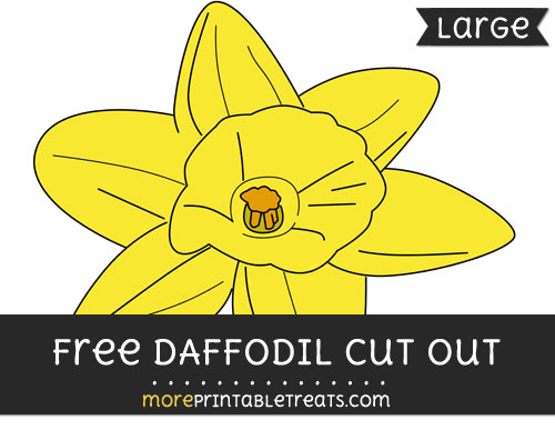 Free Daffodil Cut Out - Large size printable