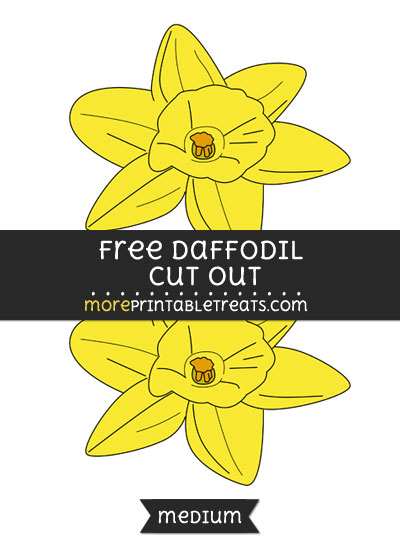 Free Daffodil Cut Out - Medium Size Printable