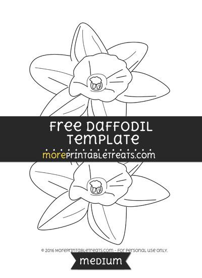 Free Daffodil Template - Medium
