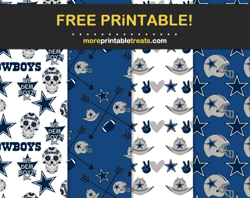 Free Dallas Cowboys-Inspired Papers