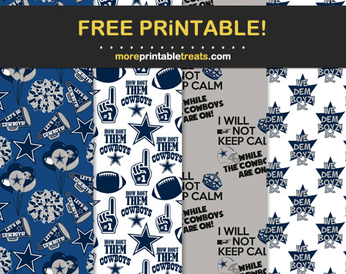 Free Dallas Cowboys-Inspired Printable Papers
