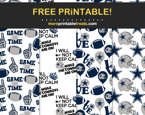 Free Dallas Cowboys-Inspired Scrapbook Papers