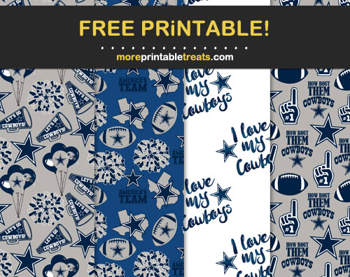 Free Dallas Cowboys Patterned Papers