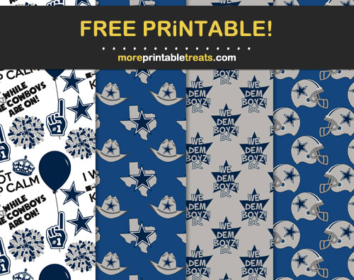 Free Dallas Cowboys Patterned Printable Papers