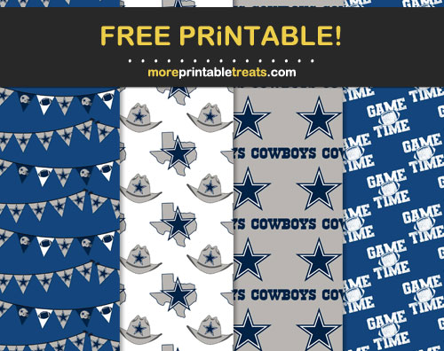 Free Dallas Cowboys Patterned Scrapbook Papers