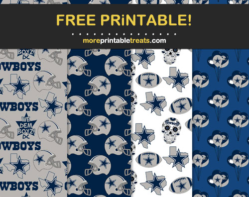 Free Dallas Cowboys Printable Background Papers