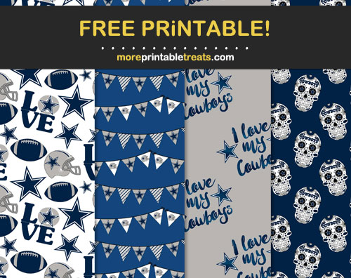 Free Dallas Cowboys Printable Scrapbook Papers