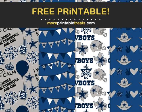 Free Printable Dallas Cowboys Scrapbook Papers