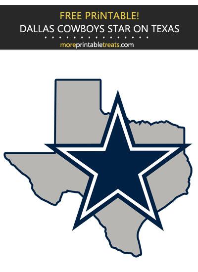 Free Printable Dallas Cowboys Star on Texas