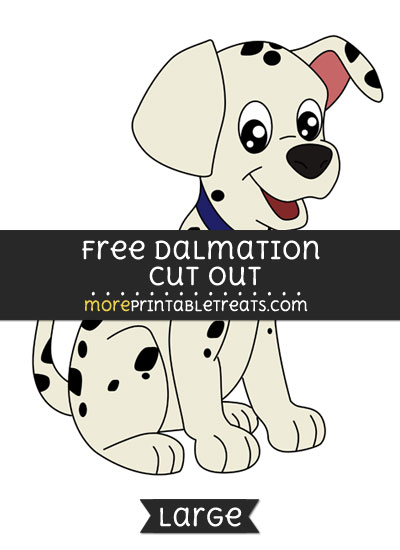 Free Dalmation Cut Out - Large size printable