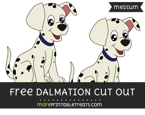 Free Dalmation Cut Out - Medium Size Printable