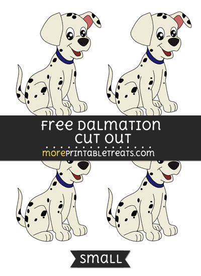 Free Dalmation Cut Out - Small Size Printable