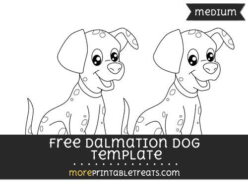 Free Dalmation Template - Medium
