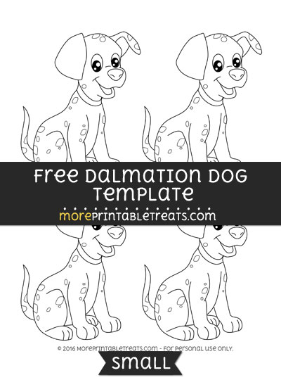 Free Dalmation Template - Small