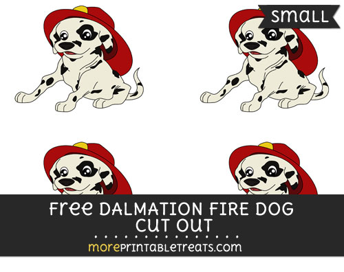 Free Dalmation Fire Dog Cut Out - Small Size Printable