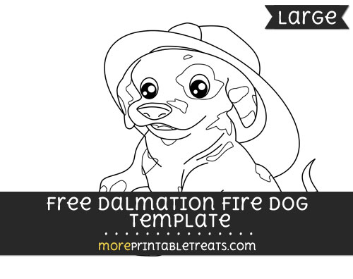 Free Dalmation Fire Dog Template - Large