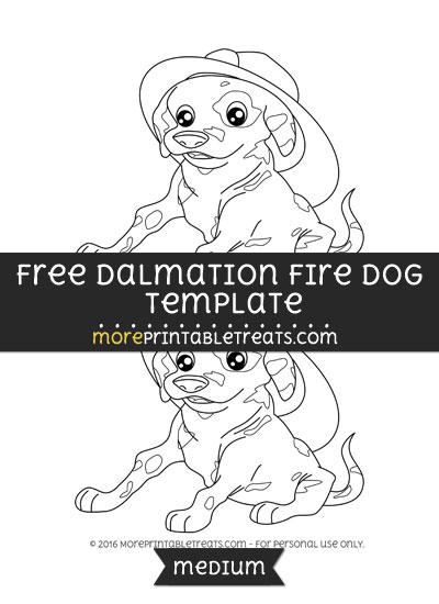 Free Dalmation Fire Dog Template - Medium