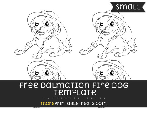 Free Dalmation Fire Dog Template - Small