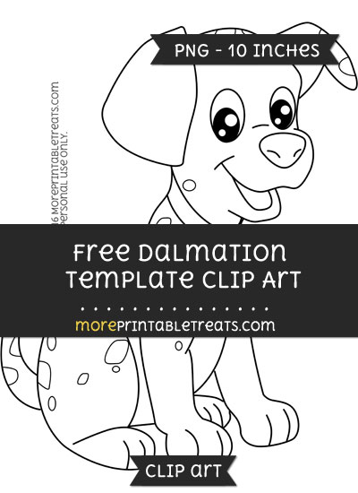 Free Dalmation Template - Clipart
