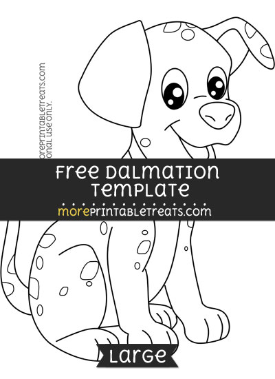 Free Dalmation Template - Large