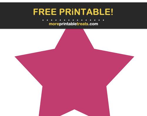 Free Printable Dark Pink Star