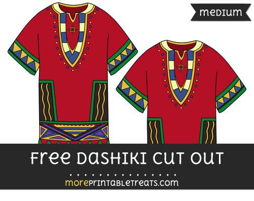 Free Dashiki Cut Out - Medium Size Printable