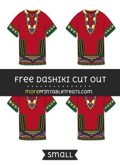Free Dashiki Cut Out - Small Size Printable