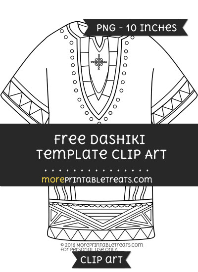Free Dashiki Template - Clipart