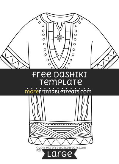 Free Dashiki Template - Large
