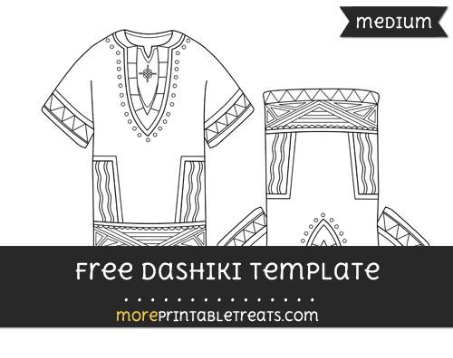 Free Dashiki Template - Medium