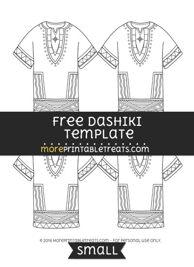Free Dashiki Template - Small