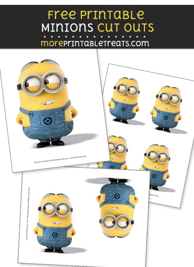 Free Dave from Minions Cut Outs - Printable
