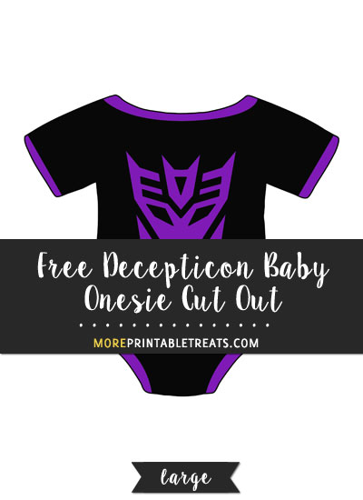 Free Decepticon Baby Onesie Cut Out - Large