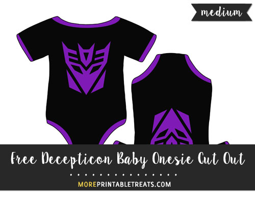 Free Decepticon Baby Onesie Cut Out - Medium