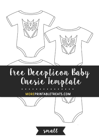 Free Decepticon Baby Onesie Template - Small Size
