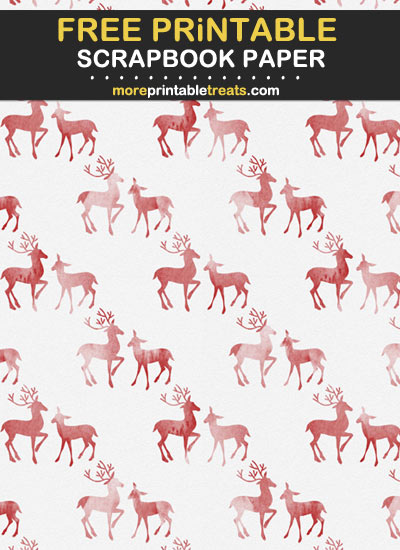 Free Printable Deer Scrapbook Paper