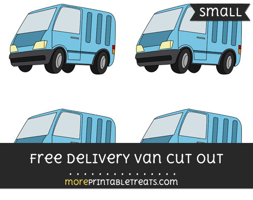 Free Delivery Van Cut Out - Small Size Printable