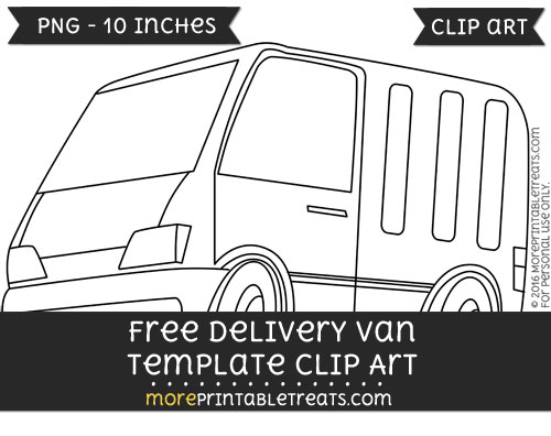 Free Delivery Van Template - Clipart