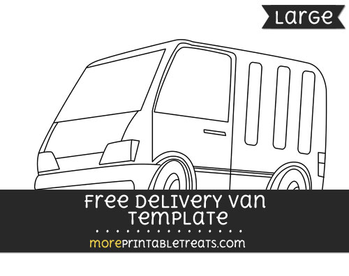 Free Delivery Van Template - Large