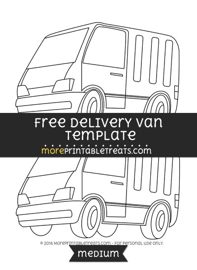 Free Delivery Van Template - Medium