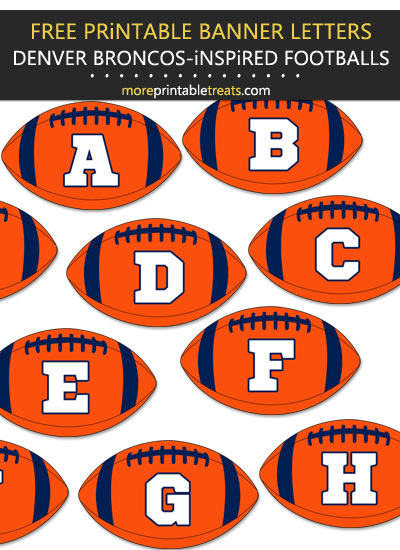 Free Printable Denver Broncos-Inspired Football Alphabet