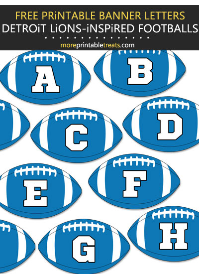 Free Printable Detroit Lions-Inspired Football Alphabet